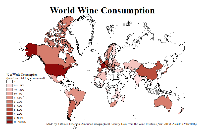 Consumption Week The Wine Ubique Percentages Of Map