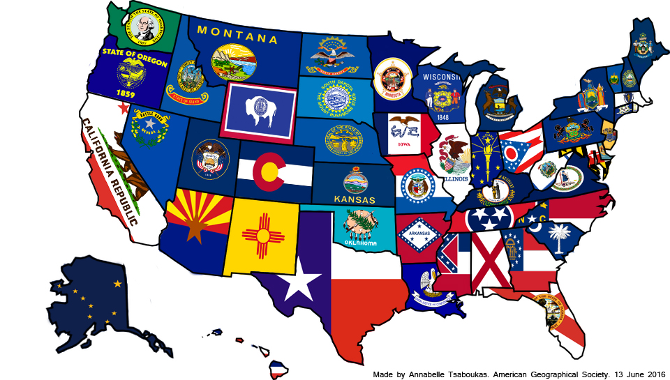 Map Of The Week State Flags Ubique