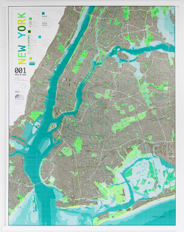 The Future Mapping Company's award winning New York City Map