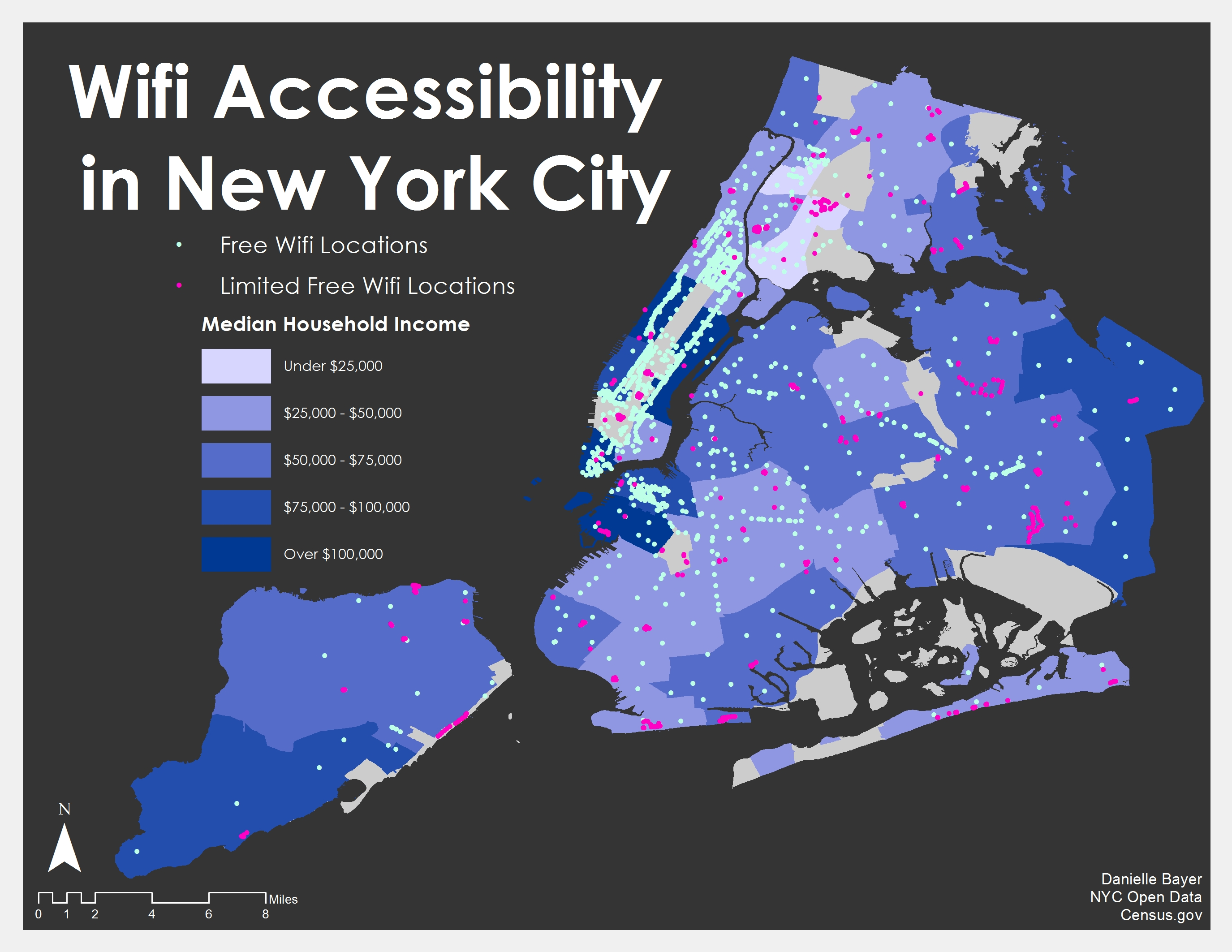 Map Of The Week Wifi Accessibility In New York City UBIQUE - Free wifi near me map