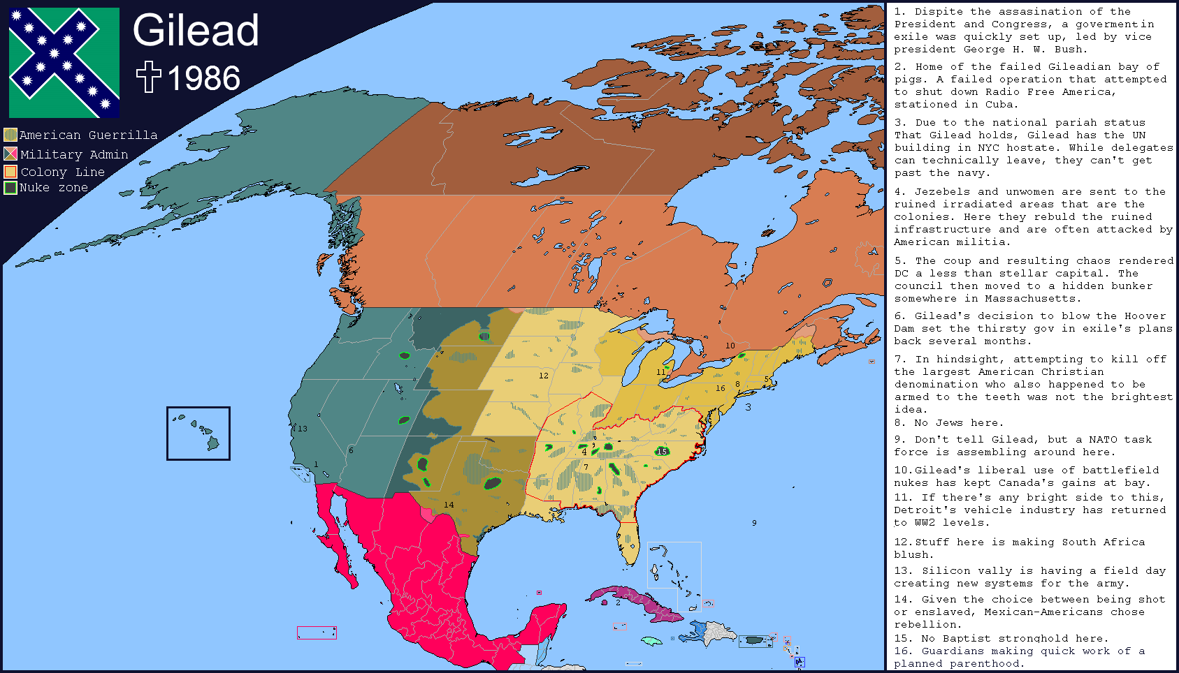 Map Of The Week The Handmaids Tale Ubique - Alternate-us-map
